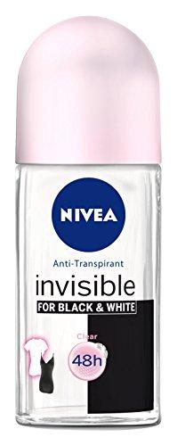 Preisvergleich Produktbild Nivea Deo Invisible Black&White Clear Antitranspirant Roll-On,  3er Pack 3 x 50 ml