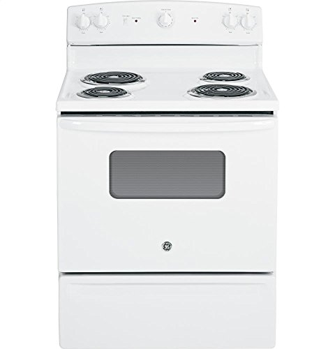 GE JBS10DFWW 30-Inch 5 Cu.Ft. Free-Standing Electric Range, White
