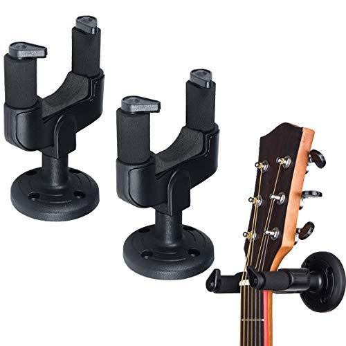Soporte Pared Guitarra YLX Soporte de Pared para Guitarra Para Colgar Guitarra en Pared (2 Piezas)