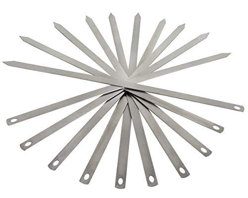 Beeketal BGS3-10 Stück aus rostfreien Edelstahl gefertigte Grillspieße mit geschärften Spitzen, (Länge/Breite/Stärke) 600 x 20 x 1,8 mm
