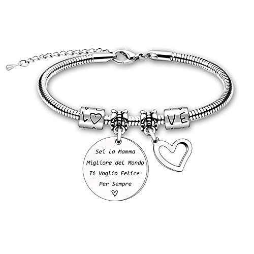 Mom Bracelet Gifts for Mom Daughter Son Christmas Birthday Thanksgiving Gifts for Mother's Day