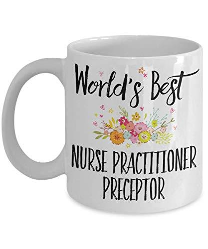 Taza de Preceptor de Enfermera practicante - Mejor Preceptor de Enfermera practicante del Mundo - Regalo de Preceptor de NP - Regalos de Preceptor de Enfermera para Mujeres