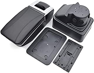 8X-SPEED for Ford Fiesta 3 MK 7 2011-2018 Car Armrest Accessories Centre Console Storage Box Arm Rest Black