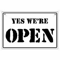 【オープンクローズ両面パネル看板・サイズ:幅約45×高約30cm・ステンシル腐食 JJ OPEN CLOSED】米軍などミリタリー調の書体でデザインしたサインパネル。