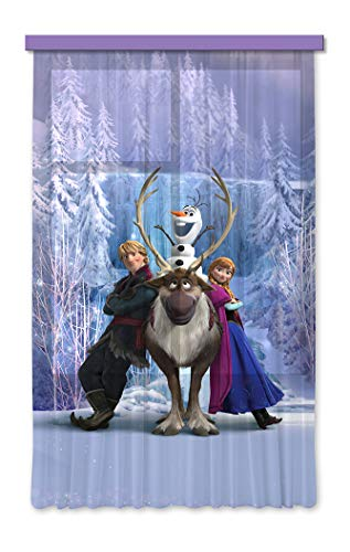 Gardine/Vorhang FCS L 7104 Disney, Frozen, 140 x 245 cm, 1-teilig