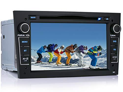 iFreGo 7 Zoll 2 Din Autoradio Für Opel Astra/Antara/Combo/Vectra/Vivaro/Zafira/Opel Meriva,GPS Navigation,DVD CD Player,Windows CE 6.0,DAB+ autoradio unterstützt Lenkradsteuerung Mirrorlink Bluetooth