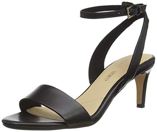 Clarks Amali Jewel, Zapatos con Tacon y Correa de Tobillo Mujer, Negro (Black Leather Black Leather), 39 EU