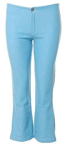 Take Two Damen Capri Hose Stretch Regular Slim W29 blau Elena Spacco