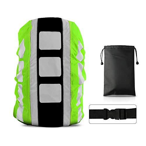 LAMA Parapioggia per Zaino, 1pcs Impermeabile Outdoor Zaino Parapioggia Reflective Copri Zaino per Pioggia Anti Polvere Antifurto Bicycling Escursionismo Outdoor attività M 26L-40L Verde