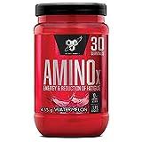 BSN Nutrition Amino X, Suplementos Deportivos BCAA Polvo con Aminoacidos Esenciales y Vitamina D, Aminoacidos BCAA para Musculacion, Sandía, 30 Porciones, 435g