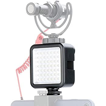 LED Video Light, Camera Lighting - Ulanzi Dimmable Portable 49 LED Ultra Bright Panel Video Lighting, LED Camera Lights, Compatible for Canon Nikon Pentax Panasonic Sony DSLR Cameras Cell Phone etc.