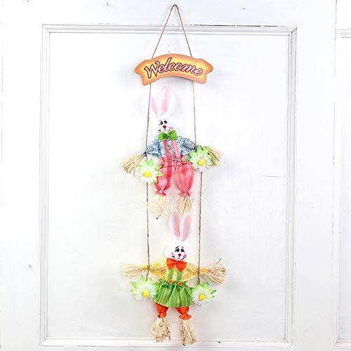 LanLan haas met cartoon-motief, schattig, om op te hangen, voor slinger, huis, decoratie voor Pasen