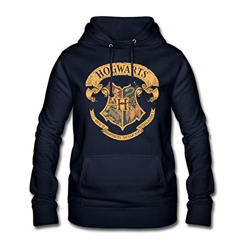Harry Potter Hogwarts Wappen Frauen Hoodie, M (38), Navy