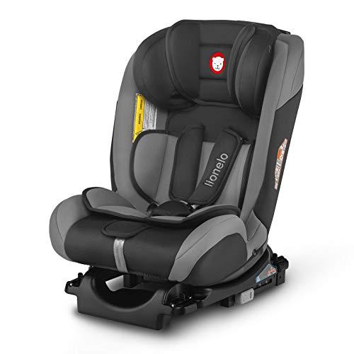 Lionelo Sander Kindersitz Auto Kindersitz Isofix in und gegen Fahrtrichtung Top Tether Autositz Gruppe 0 1 2 3 ab Geburt bis 36 kg ECE R 44 04 TÜV SÜD (Grau)