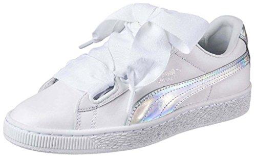 Puma Basket Heart Explosive Sneaker Women Girls White 363626 02, Numero di Scarpe:EUR 40