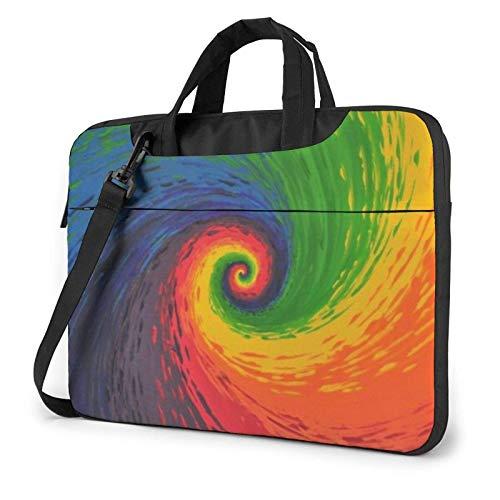 Tie Dye Colorful Rainbow Laptop Tote Bag Compatible Laptop MacBook Pro Carrying Handbag