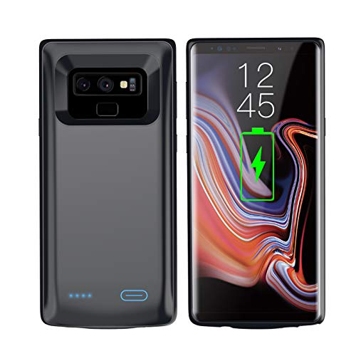Battery Case for Galaxy Note 9 【5000mAh】 Portable Rechargeable External Battery Pack for Samsung Galaxy Note 9 Charger Case Slim Note 9 Protective Charging Case——Black