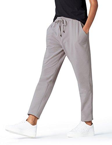 Amazon-Marke: find. Jogginghose Damen Jersey mit schmal zulaufendem Bein, Grau (Mid Grey), 38, Label: M