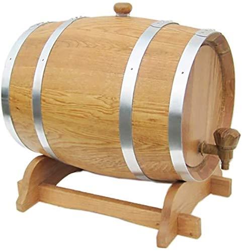 YAOSHUYANG Barril de Madera, Dispensador de Barril de Vino de Madera de 10L Oak para Almacenamiento o envejecimiento de Vino y licores (Color : A, Size : 10L)