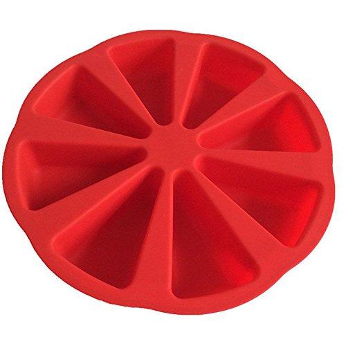 Outflower Moule à gaufres en silicone à 8 cavités triangulaires