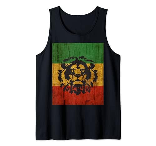 Rasta Reggae Lion Flag Jamaica for Rastafari Lover Tank Top