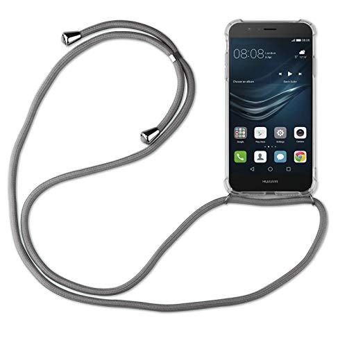 betterfon | Huawei P9 Lite Handykette Smartphone Halskette Hülle mit Band - Schnur mit Case zum umhängen Handyhülle mit Kordel zum Umhängen für Huawei P9 Lite Grau