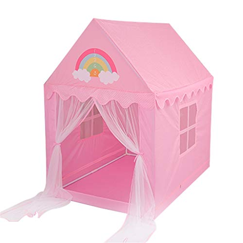 CHANG-dq Mädchen rosa Zelt, Jungen blaues Zelt Familie Wochenend Partyzelt Eltern-Kind-Spiel-Zelt / Geschenk for Baby oder Jungen Geburtstag Haushaltszelt ( Color : Pink , Size : 105*140*150cm )