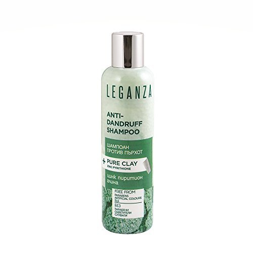 Leganza Anti-Schuppen Shampoo mit Ton und Zink Pyrithion Ohne Sulfate Ohne Parabene Alle Haartypen