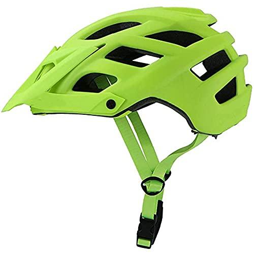 MISS YOU Casco de Bicicletas Mujeres Hombres MTB Montaña Bicicleta Casco Bicicleta Ultralight Road Bike Bike Casco de Bicicleta (Color : Green)