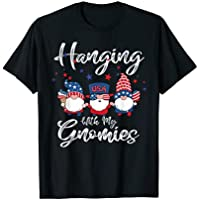 Hanging With My Gnomies 4th Of July Ice Cream Flag American T-Shirt for Men or Women (various colors & sizes)