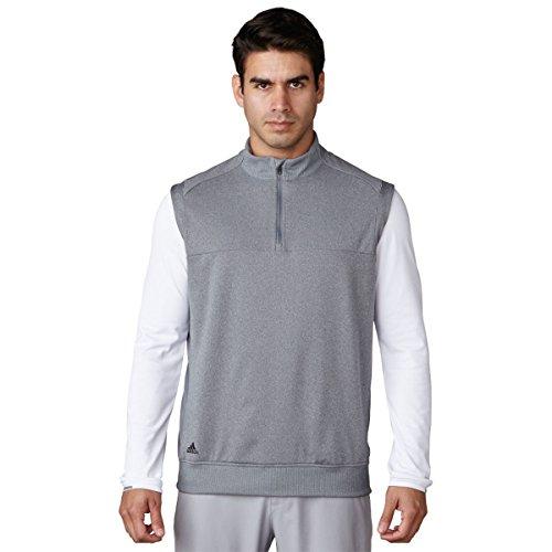 adidas Golf Men's Adi Club Vest, TMAG Vista Grey Heather, Medium