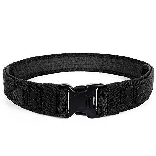 LUUFAN Cintura Tattica Militare con Cinturino a sgancio rapido per attività all'aperto (Nero)