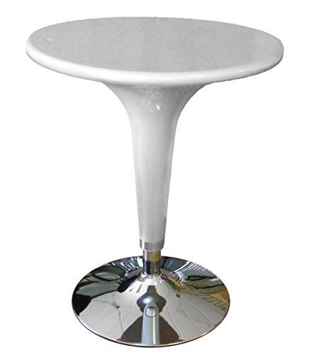 Brillant table d'argent de levage à gaz, réglable en hauteur, diamètre 60cm