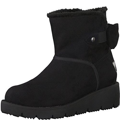 s.Oliver Damen Winterstiefel 26419-21,Frauen Winter-Boots,Fellboots,Fellstiefel,gefüttert,warm,SoftFoamsO Decksohle,Black,EU 38