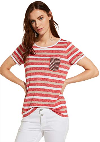 Comma CI Damen 80.899.32.0863 T-Shirt, 30G9 Stripe, 38