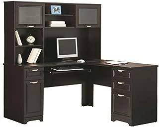 Realspace Magellan L-Shaped Desk, Espresso
