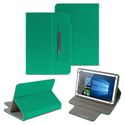 NAUC Universal Tasche Schutz Hülle 10-10.1 Zoll Tablet Schutzhülle Tab Case Cover Bag, Farben:Grün, Tablet Modell für:Odys Score Plus 3G