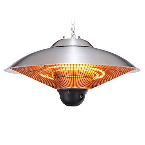 XHH Estufa Colgante de Techo Tipo Calefactor Tubo Calefactor iluminación LED, para Interior y Exterior 1200W/1300W/2500W con Control...