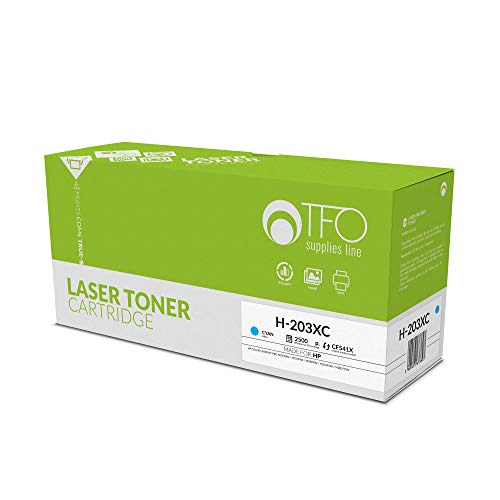 TELFORCEONE Toner vervangt compatibel met HP Color Laserjet Pro M254dw, M254nw, M280nw, M281fdn, M281fdw, T6B60A, T6B59A, T6B80A, T6B81A, T6B82A printer, laser printeraccessoires, mix cyaan