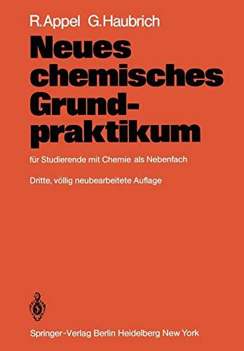 Neues chemisches Grundpraktikum: für Studierende mit Chemie als Nebenfach