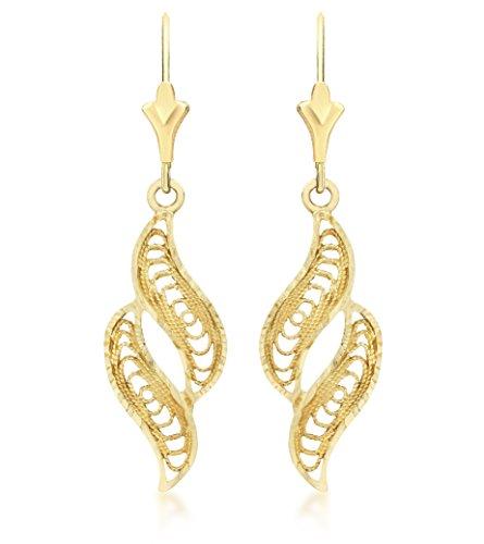 Carissima Gold Damen - Ohrhänger 9 k (375) Rundschliff Diamant 1.56.0799