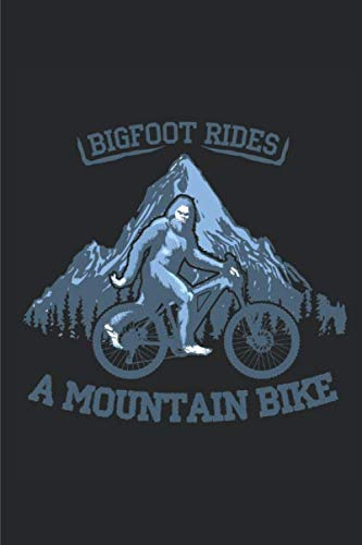 Bigfoot rides a Mountain Bike Notebook: Dot Grid Notebook (6x9 inches) with 120 Pages