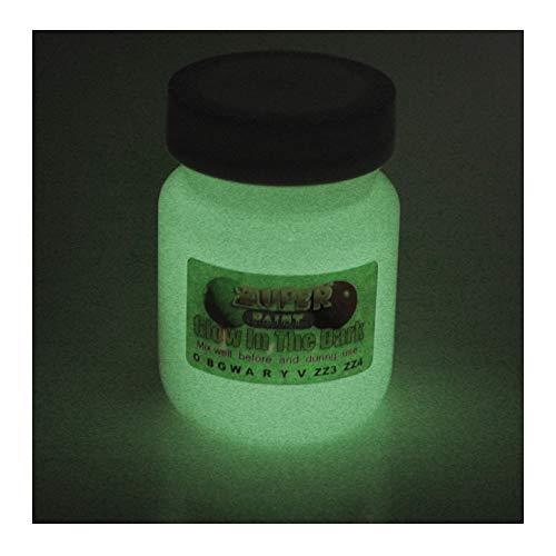 Pittura acrilica 30 ml Glow in the Dark, luminosa, White, 30ml (1 fl oz)