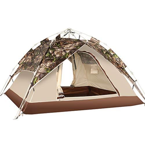 DXIUMZHP Massaggi Tenda da Campeggio, Apertura Automatica Idraulica per 3-4 Persone, Tenda da Giardino A Doppio Strato Ad Apertura Rapida, Attrezzatura da Campeggio da Viaggio