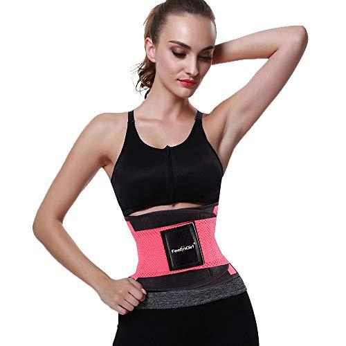 Leaflai Waist Trainer Belt for Women & Man-Yianna Waist Trainer -Waist Cincher Trimmer- Slimming Body Shaper Belt (Pink 2XL)