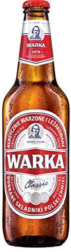 18 Flaschen a 0,5L Warka Pils a 5,2% vol. inc. 1.60€ MEHRWEG Pfand Polen