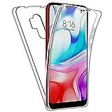 NewTop Funda Cover Crystal Case TPU Silicona Gel PC Protección 360° Frontal Retro para Xiaomi Redmi Note 8/8T/8 PRO