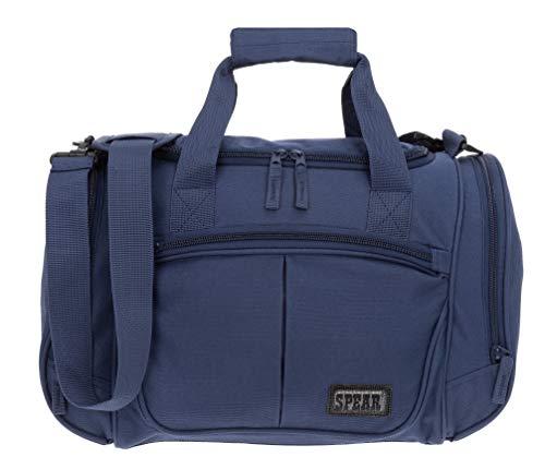 Sporttasche 42 cm Herren Damen Kinder kleine Arbeitstasche Gymbag Sport Tasche + Alu Trinkflasche (Blue Sea)