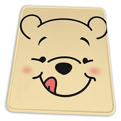 Nueey Winnie-The-Pooh - Alfombrilla de ratón vertical con soporte para muñeca, base de goma antideslizante para escritorio de alta DPI profesional de 20,3 x 25,3 cm