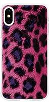 可愛い Hot pink Leopard ホットピンク ヒョウ キャラクター アート デザイン iPhone ケース と Galaxy ケース 対応 TPU シリコン クリア ゼリー スマホケース TA-BTS-CHZ-04-37-V003 (Galaxy s7) [並行輸入品]